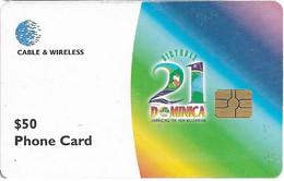 DOMINICA : DOMM65 EC$50 Birthday 21 DOMINICA USED - Dominica