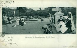Fantaisie Le Parterre Du Luxembourg Jardin Enfant Etc.. Carte Précurseur Animée  Tableau Par : P M Dupuy - Non Classificati