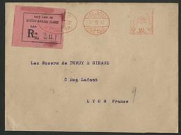 ETHIOPIE MACHINE A AFFRANCHIR (EMA) De La Banque D'Ethiopie EN RECOMMANDE Pour La France En 1934. TB. Voir Description - Ethiopia
