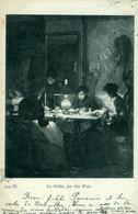 Fantaisie La Veillée Femme Lampe à Pétrole Travail Manuel Carte Précurseur Animée  Tableau Par : Geo Weiss - Ohne Zuordnung