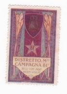 Vignette Militaire Delandre - Italie - 81ème District Militaire - Militario