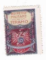 Vignette Militaire Delandre - Italie - District Militaire - Teramo - Militario