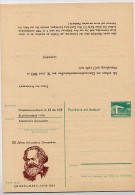 DDR P85-1a-83 C1-a Antwort-Postkarte Zudruck AK GANZSACHEN KARL MARX Halle 1983 - Postales Privados - Nuevos