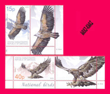 ABKHAZIA 2019 Europa CEPT Theme Fauna Predatory Birds Of Prey Golden Eagle & Bald Vulture 2v+2 Labels MNH - 2019