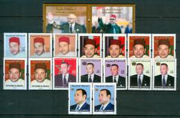 MOROCCO MAROC MAROKKO 18 TIMBRES ROIS MOHAMMED VI ENTRE 2006 ET 2020 - Marokko (1956-...)