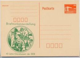 DDR P86I-3-86 C1 Postkarte PRIVATER ZUDRUCK Grenztruppen Königs Wusterhausen 1986 - Postales Privados - Nuevos