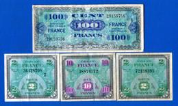 France  4  Billets - 1944 Flag/France