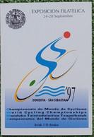 Tarjeta Del Correo España #35 (60-1) Cartel Anunciador Del Campeonato Del Mundo De Ciclismo.(A) 1997 - 1931-....
