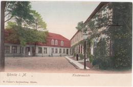 RIBNITZ In Mecklenburg Klosteransicht Color Belebt Gelaufen Bahnpost STRALSUND - ROSTOCK ZUG 280 14.4.1914 - Ribnitz-Damgarten
