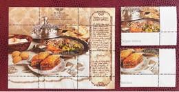 EUROPA CEPT 2005 BOSNIE 2 V Et 1 Bloc Neuf MNH **  YT 475 476 BF 25 Gastronomie BOSNIA - 2005