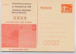 DDR P86I-4c-88 C24 PRIVATER ZUDRUCK GANZSACHEN UDSSR Halle 1987 - Postales Privados - Nuevos