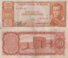 Bolivia / 50 Pesos / 1962 / P-162(a) / VF - Bolivie