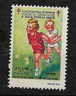 """Vignette   """"contre La Tuberculose"""" 1933 Jeux Et Santé  Neuf * * B/ TB      Le Moins Cher Du Site ! ! ! - Tegen Tuberculose"""