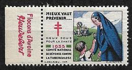 """Vignettes Pub Heudebert   """"contre La Tuberculose"""" 1935 Prévenir Pour Vivre  Neuf * * B/ TB  Le Moins Cher Du Site ! ! ! - Tegen Tuberculose"""