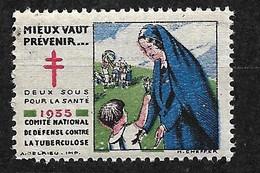 """Vignettes    """"contre La Tuberculose"""" 1935   Prévenir Pour Vivre    Neuf * * B/ TB     Le Moins Cher Du Site ! ! ! - Tegen Tuberculose"""