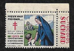 """Vignettes Pub Chocolat Suchard """"contre La Tuberculose"""" 1935Prévenir Pour Vivre Neuf * * B/ TB  Le Moins Cher Du Site ! ! - Tegen Tuberculose"""