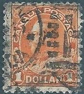 Canada -1922 -1925 Re Giorgio V, 1$ Orange Oblitered - Gebraucht