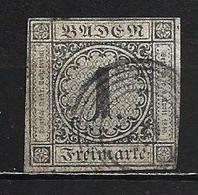 1853 BADEN 1 KR. MICHEL: 5 USED - Bade