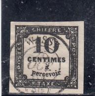 France - Année 1861 - Taxe - N°YT 2 - Oblit. - 10c Noir - 1859-1955 Used