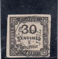 France - Année 1878 - Taxe - N°YT 6 - Oblit. - 30c Noir - 1859-1955 Usados
