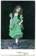 Mignon Portrait De Fillette Ayant Cueilli Quelques Fleurs - Dos Simple - Abbildungen
