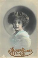 """CPA ENFANT """"Petite Fille """" / BONNE ANNEE - Portretten"""