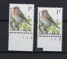 N°2457P6 Buzin Pltn°set MNH ** POSTFRIS ZONDER SCHARNIER SUPERBE - 1985-.. Vogels (Buzin)