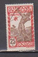 GUYANE             N° YVERT  116  NEUF SANS CHARNIERES  (NSCH 02/12 ) - Unused Stamps