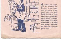 XX  Cpa //  French Old Blotting / SUPERBE !! à Saisir Achat Immédiat @ Buvard Ancien Vin Histoire Postillon Vigne Fut - P