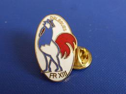 Pin's Rugby à XIII 13 - Délégués FR - France Comité - Coq Tricolore Sportif (PJA46) - Rugby