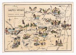 88 Les Hautes Vosges Gérardmer Munster Colmar Plan Et Spécialités à Découvrir Illustrateur E. Beyer VOIR DOS - Gerardmer