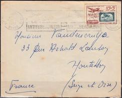 SEUL Sur Enveloppe Du MAROC  Y.et.T. Num 84 15f+5f   En Poste Aérienne  Postée En 1952 Pour 78 MONTESSON - Airmail