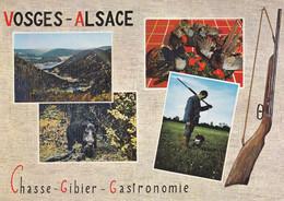 CPSM VOSGES ALSACE CHASSE GIBIER GASTRONOMIE - Unclassified