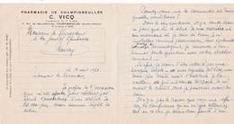 54-C.Vicq...Pharmacie...Champigneulles....(Meurthe-et-Moselle)...1933 - Altri