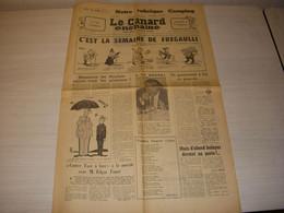 CANARD ENCHAINE 2381 08.06.1966 Claude LELOUCH Un HOMME Une FEMME Léon ZITRONE - Política
