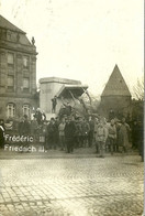 57 MOSELLE METZ 3 CARTES PHOTO STATUE RENVERSEE 1918 FREDERIC GUILLAUME CHARLES A VOIR - Metz
