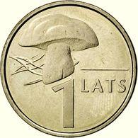 Latvia 1 Lats 2004 Mushroom Pilz KM 67 UNC FROM MINT ROLL - Letland