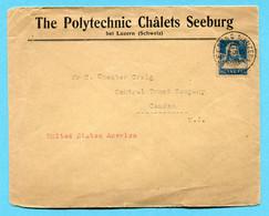 Brief Seeburg B/Luzern Nach Camden (USA) 1925 - Absender: The Polytechnic Châlets Seeburg - Brieven En Documenten