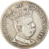 Monnaie, Eritrea, Umberto I, Lira, 1891, Roma, TTB, Argent, KM:2 - Eritrea