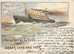 Paquebots - Gruss Von Lieber Land Und Meer - II Série Künstler-Postkarten N° 16 - Willy Stöwer - Piroscafi