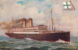 Paquebots - Orient Line - S.S. Orvieto - Sail Between England And Australia  - 2 Scans - Piroscafi