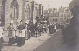 Granville  Carte Photo  50 Manche   Enterrement Corbillard Notre Dame Cortège  Superbe - Granville