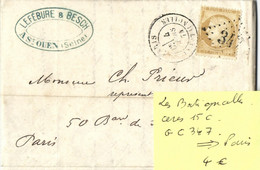 CERES 15C  GC 347  -- 04 MARS 1874  LES BATIGNOLLES - 1849-1876: Klassik