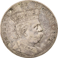 Monnaie, Eritrea, Umberto I, 2 Lire, 1890, Roma, TTB, Argent, KM:3 - Eritrea