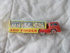 Camion Et Cages Aux Fauves Du Cirque Pinder Richard Zoo En Carton - Pubblicitari