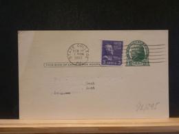 92/295   POSTAL CARD USA VERSO PIQUAGE PRIVE - 1941-60