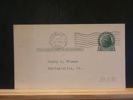 92/298   POSTAL CARD USA VERSO PIQUAGE PRIVE  1949 - 1941-60