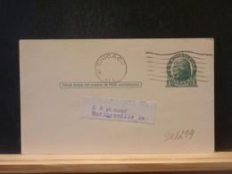 92/299   POSTAL CARD USA VERSO PIQUAGE PRIVE - 1941-60