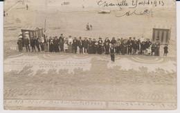 Granville 50 Manche Carte Photo Concours De Château De Sable  Plage 1913  Voir Dessin En Sable   Peu Courante - Granville
