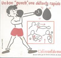 XX  // French Old Blotting / Blotter // à Saisir Achat Immédiat @ Buvard Ancien BOXE Sport Enfant Torse Nu Triceps Sucre - Kids